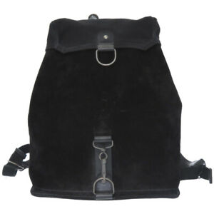 AUTHENTIC MARTIN MARGIELA Backpack  Daypack Black Suede/Canvas 0050