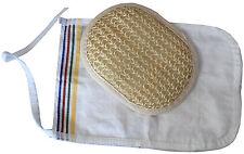 Bath set kese glove and natural sisal body massage for shower sauna hammam spa