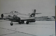 information aéronautique AMD Dassault MD450 Ouragan French Air Force Postcard
