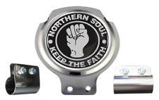 Northern Soul Black & White Design Scooter Bar Badge - FREE BRACKET & FIXINGS
