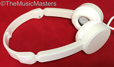 Kids Folding On-ear Sport Style Wired Stereo Headphones Earphones Headset White