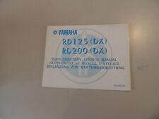 Werkstatthandbuch Yamaha RD 125 200 DX (2R6) Service manual Manuel d`atellier