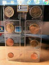 """Grèce 2002 de 8 Pièces 2 Euro à 1 Cent avec TRES RARE """"1&2 euro Lettre S """""""