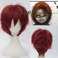 Child's Play   Red Layered 30cm Halloween Short Anime Cosplay Wig+ Cap
