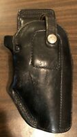 Vintage AE Nelson 84 4 Plain Black Leather Holster Fits S&W L Frame