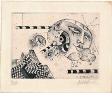 gravure Assadour Gravure en noir et blanc, aquatinte signée numérotée Liban