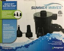 Summer Waves Quick Set Electric Pump Airbeds Pool Loungers, Floats & River Tubes