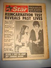 DECEMBER 1974 NATIONAL STAR-REINCARNATION-ELVIS PRESLEY & PRISCILLA UFO'S