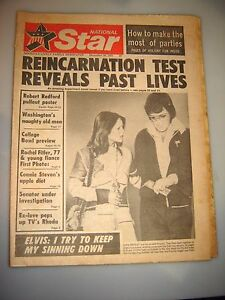 DECEMBER 1974 NATIONAL STAR-REINCARNATION-ELVIS PRESLEY & PRISCILLA UFO'S