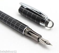 Baoer 79 Starwalker Silver Grid Pattern Medium Nib Fountain Pen