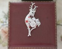 Vintage Jewelry Art Nouveau Deer Brooches Antique Jewellery