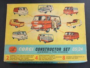 Corgi Toys Gift Set No.24 Constructor Set Commer With Original Box.