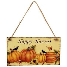 Happy Harvest Sign Hanging Plaque Thanksgiving Party Door Hanger Home Decor GL
