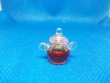 GLASS POT OF SYRUP/HONEY FOR A DOLLS HOUSE