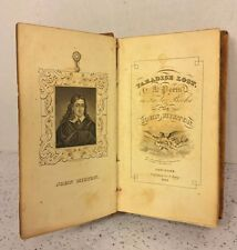 Antique Paradise Lost Mini Book by John Milton 1831 Publ by Solomon King NY