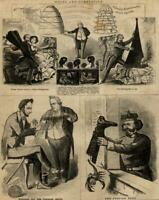 Abraham Lincoln political cartoon 1861 Harper's Weekly print