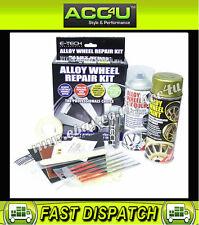 E-Tech GOLD Car Alloy Wheels Refurbishment Wheel Spray Paint Lacquer Repair Kit