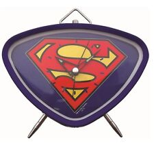 SUPERMAN LOGO BLUE RETRO ALARM CLOCK IN GIFT BOX DC COMICS XMAS GIFTS BEDSIDE