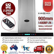 900mm 90cm Rangehood Stainless Steel Commercial Wall Mount Filter Kitchen Canopy