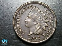 1863 Indian Head Cent Penny  --  MAKE US AN OFFER!  #B7351