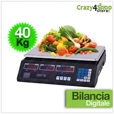 BILANCIA ELETTRONICA DIGITALE 40KG 2G 2GRAMMI PROFESSIONALE BATTERIA INTEGRATA