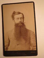 Meran - August Leineweber ? als Mann mit Bart & Zwicker / CDV