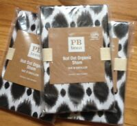 Pottery Barn Teen Ikat Dot Standard Sham Black Organic PB New