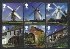 GREAT BRITAIN 2017 WINDMILLS AND WATERMILLS SET OF 6 UNMOUNTED MINT, MNH