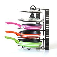 5 Tier Frying Pan Pot Saucepan Stand Rack Holder Kitchen Storage Organizer  Metal