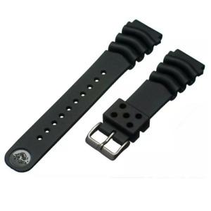Genuine Seiko Z22 Watch Band Diver SKX171SKX173 18-22mm Black Rubber Curved Vent