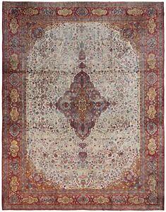 Exceptional Rare Fine Antique Silk Dabir 10x14 Rug 11x14 Bird 328cmx427cm C.1890