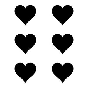"1 - 3"" HEART PACK x6 Vinyl Decal Sticker Car Window Laptop Love Hearts Pretty"