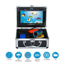 """Fish finder Camera 30M 7"""" Color Screen IR lights LED Underwater Video Recorder"""