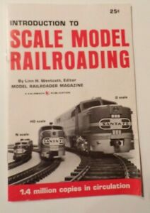 INTRODUCTION TO SCALE MODEL RAILROADING BY LINN H. WESTCOTT 1970 Kalmbach