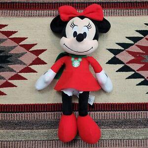 "Disney Minnie Mouse 15"" Christmas Holiday Snowflake Dress Plush Stuffed Toy"
