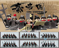 Ancient China Qin Dynasty Soldier Minifigures Army Building Blocks  Figure toy