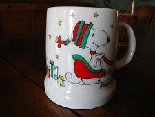 Vintage Snoopy Peanuts Woodstock Merry Christmas 1976 Mug