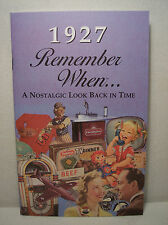 90th Birthday - 1927 Remember When Nostalgic Book Card  - NEW