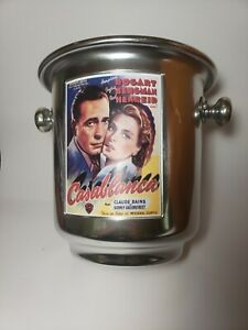 Pottery Barn wine CASABLANCA Cooler ice bucket chiller TCM ITALY CLASSIC movie