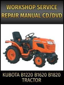 Kubota B1220 B1620 B1820 Tractor Service Repair Manual on CD