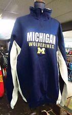 New G-III X-Large Michigan Wolverines Navy/Gray/Maize 1/4 Zip Jacket/SweatShirt