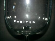 United Airlines Office Party Wine Stem Drink Glass Barware Jet Fly U Logo NEW