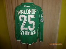 SV Waldhof Mannheim Zeus Matchworn Torwart Trikot 2008/09 + Nr.25 Strauch Gr.L