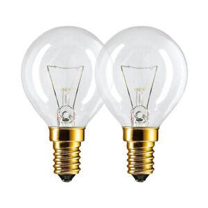 2x Philips Backofenlampe E14 40W 300 Grad Glühbirne für Ofen Herd Leuchtmittel