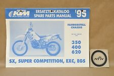 1995 KTM 350 400 620 SX SC EXC EGS Competition Chassis Part List Diagram Manual