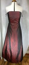 Kaleidoscope Long burgundy red Evening Dress Size 14 Prom/Party/ Strapless