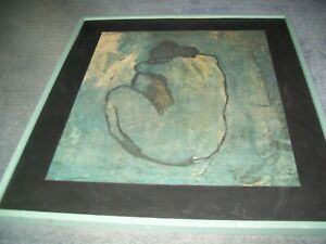 Pablo Picasso-Blue Nude-1902-Framed Print 28inches by 26 inches.