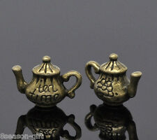 30 Bronze Tone Teapot Charm Pendants 16x12mm