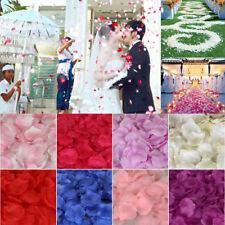 100pcs Artifical Silk Rose Flower Fake Petals Wedding Party Engagement Confetti