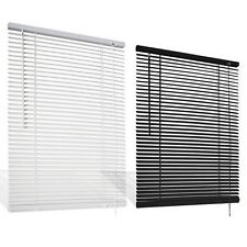P.V.C Venetian Blind Drop 150cm Window Blind Easy Fit Multiple Sizes White/Black